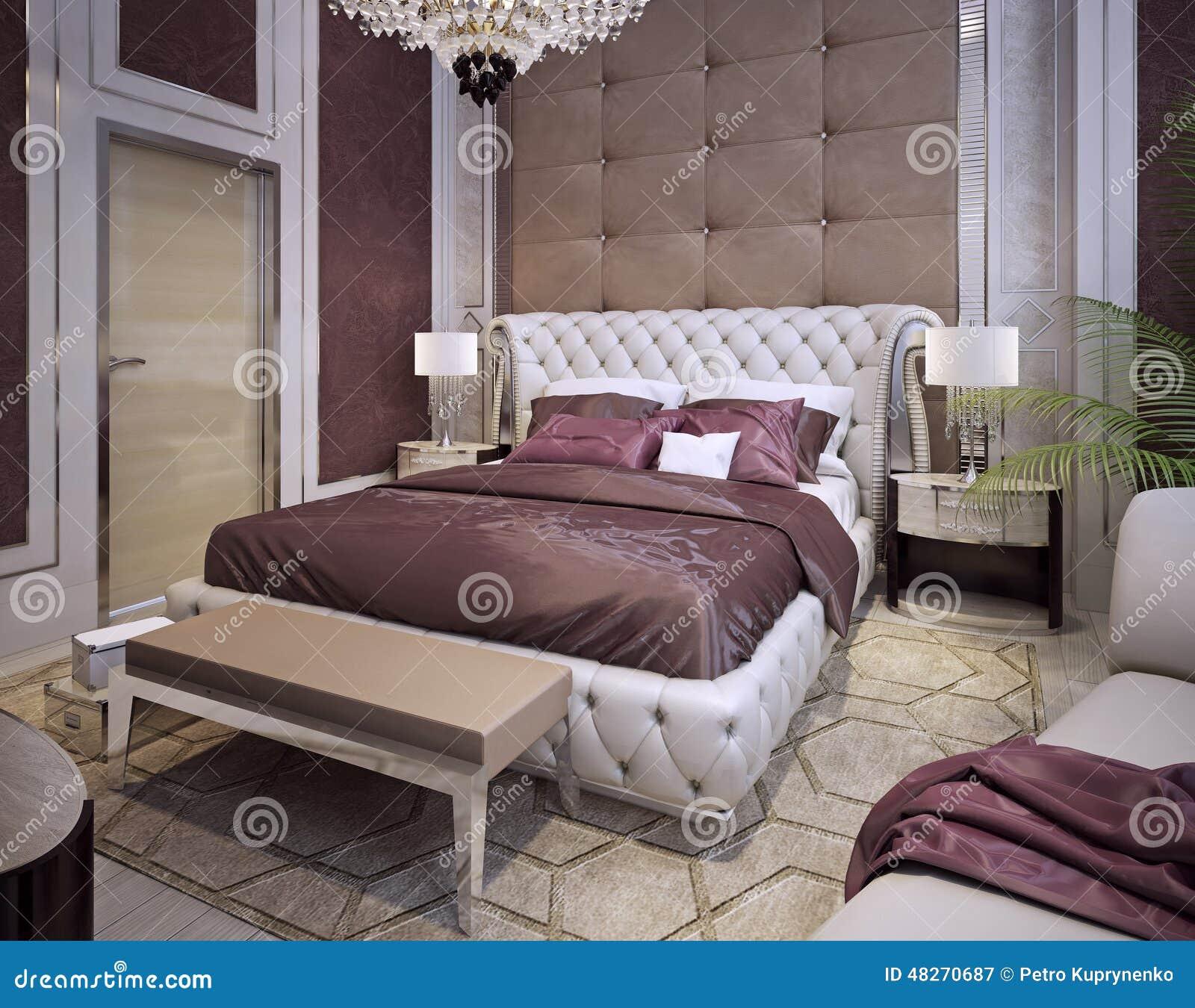 camas y cabeceros en un estilo clsico lujoso stock de ilustracin