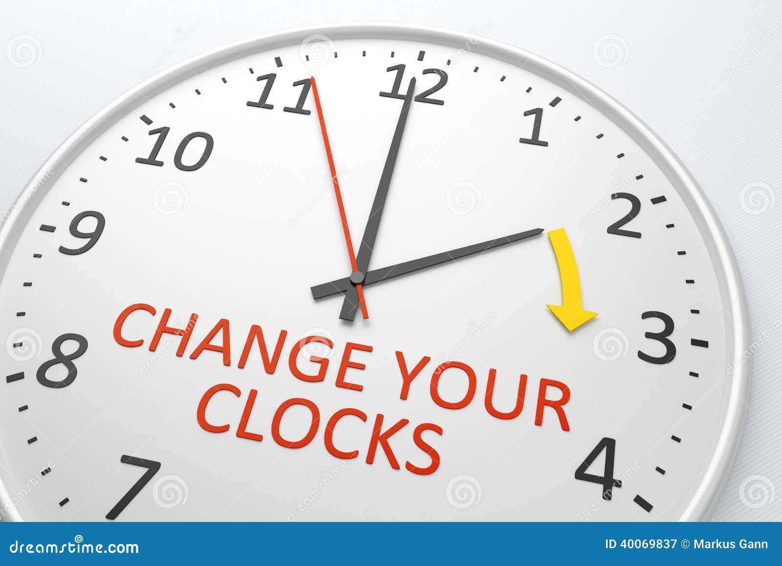 Cambi i vostri orologi