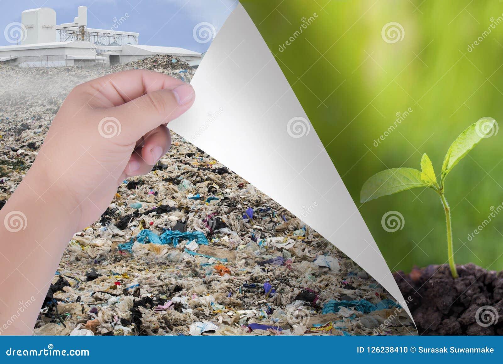 Cambie el mundo con nuestras manos De los agentes contaminadores a los paisajes naturales o a los árboles Inspiración para la pro