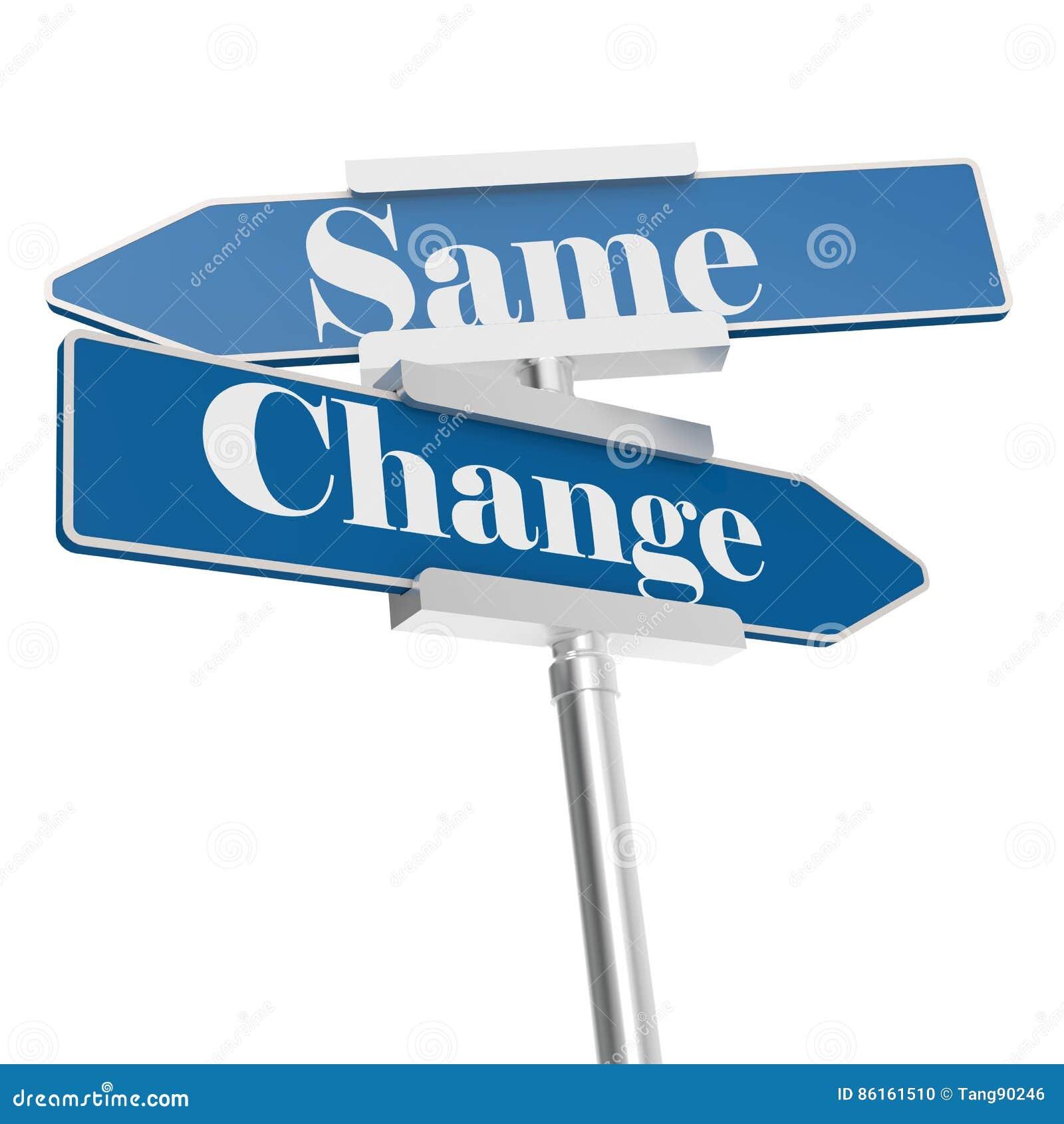 Cambie y las mismas muestras