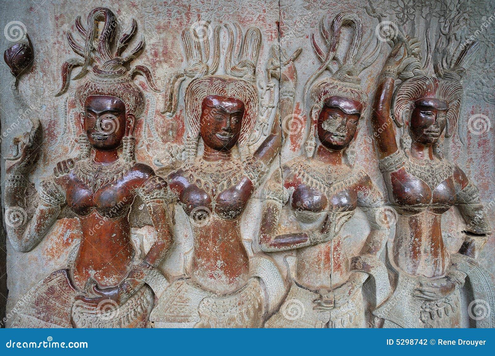 Cambodia; Angkor Wat; apsara