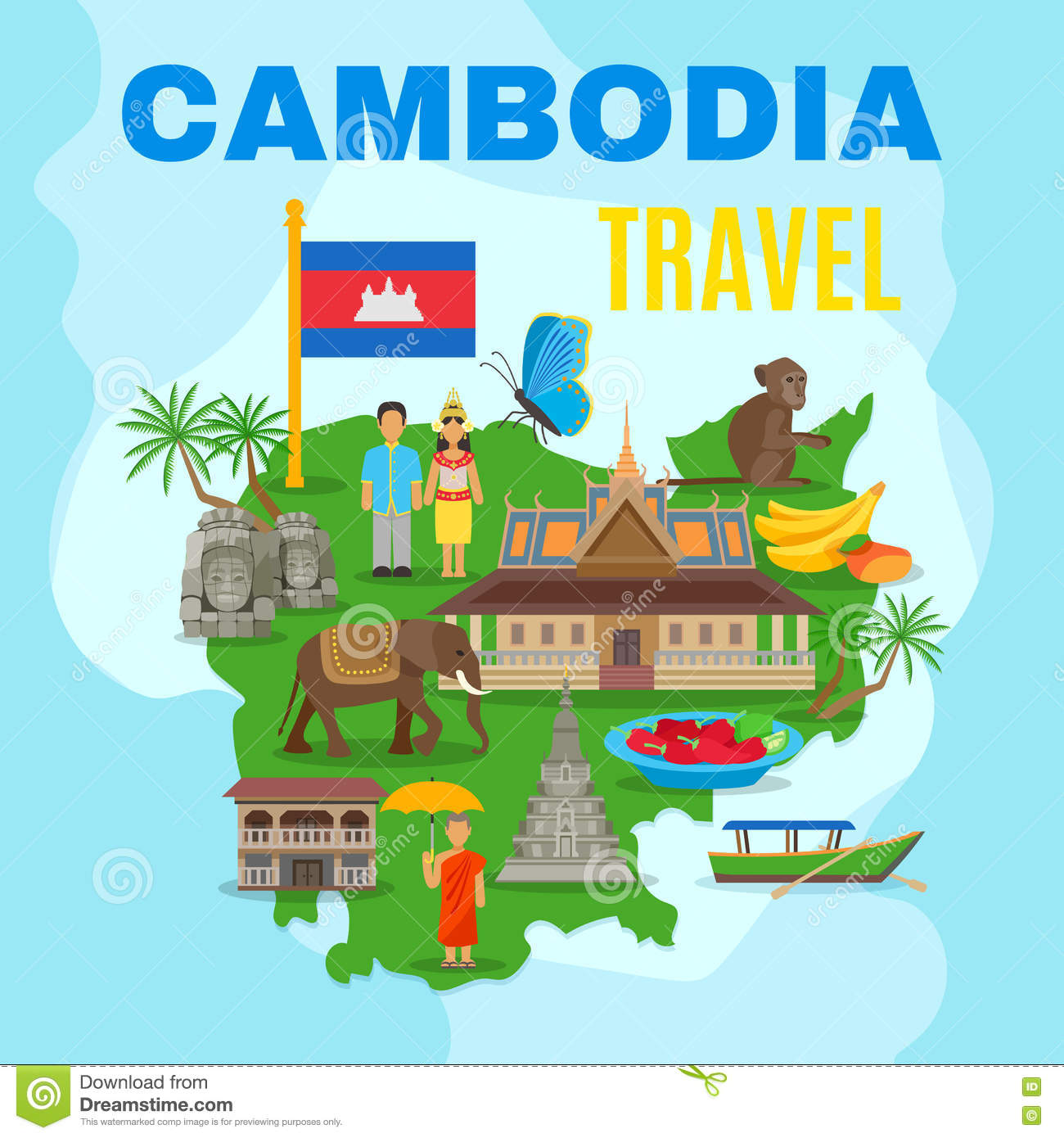 clipart map of cambodia - photo #29