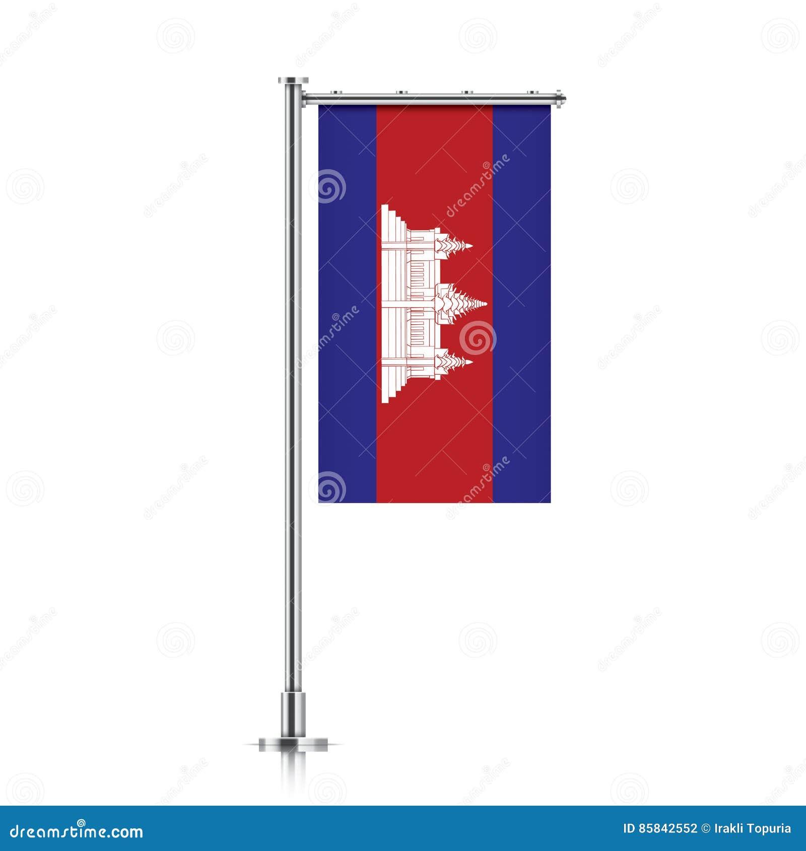 Cambodia Flag Vertical