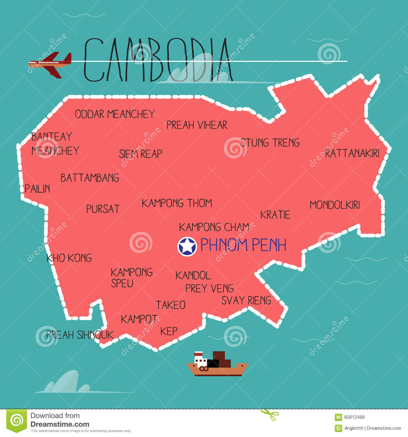 clipart map of cambodia - photo #18