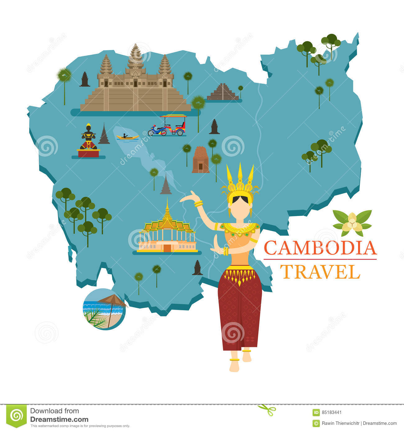 clipart map of cambodia - photo #23