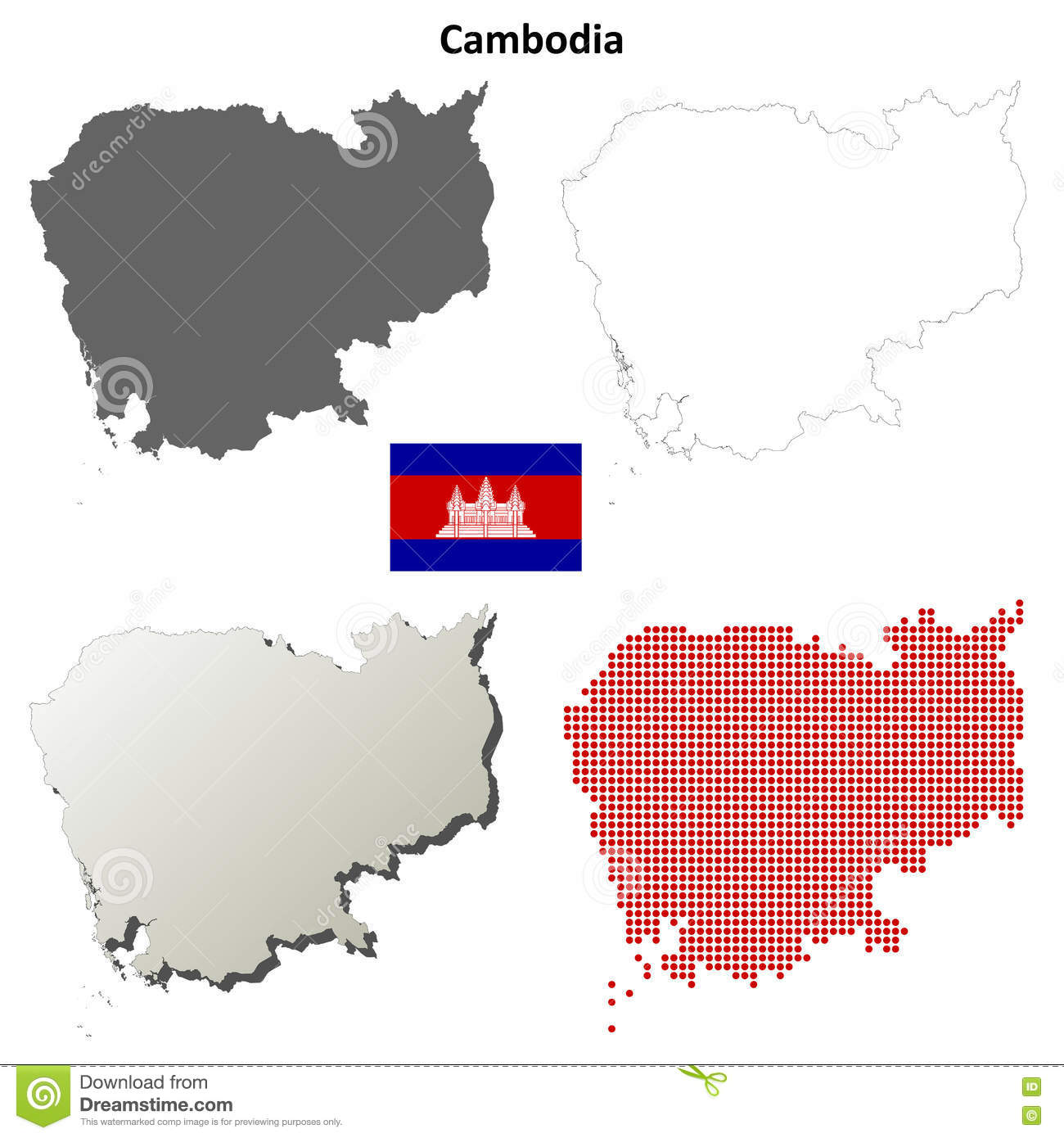clipart map of cambodia - photo #15