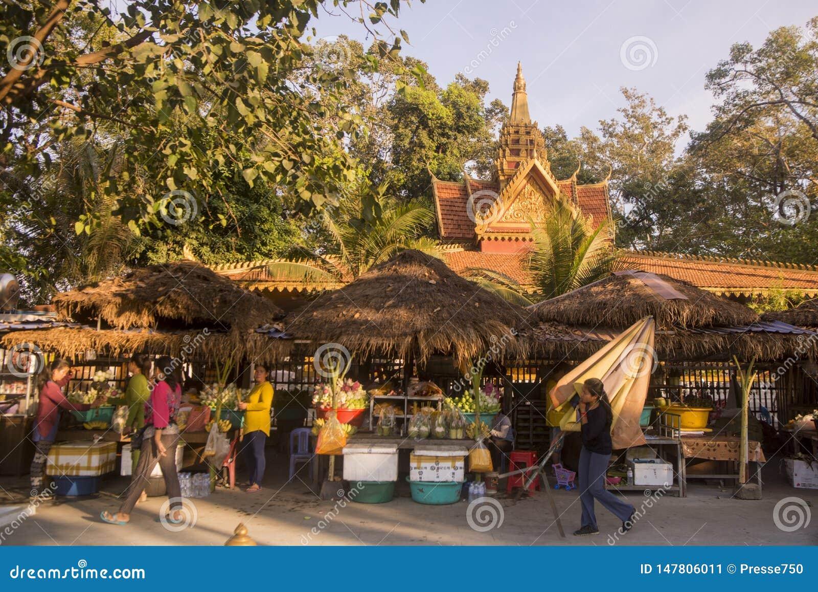 CAMBODIA SIEM REAP PREAH ANG CHORM SHRINE