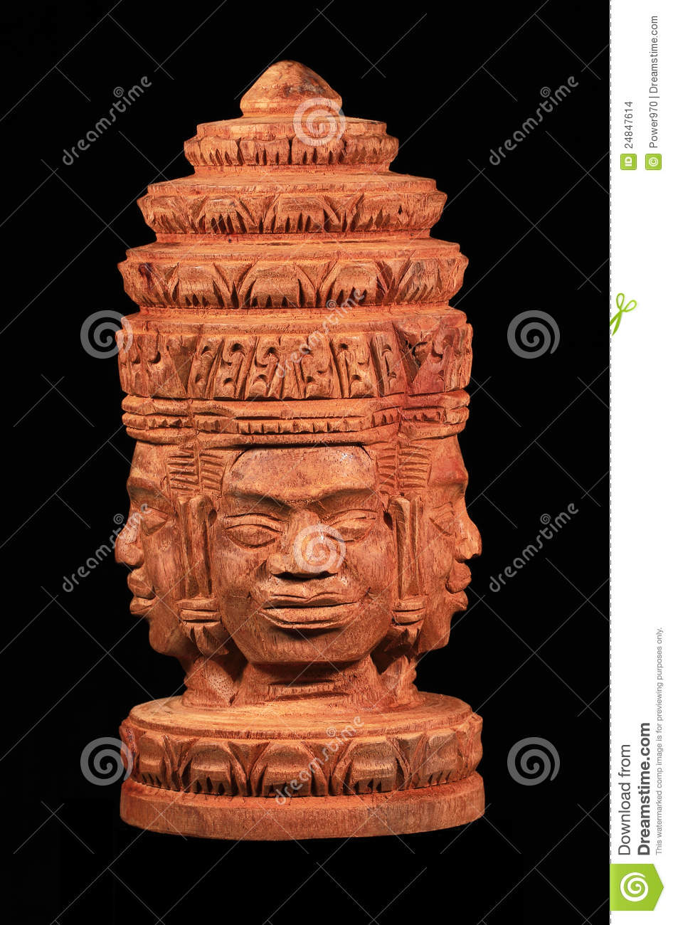 Cambodia Wood Carving Stock Photo Image Of Buddha