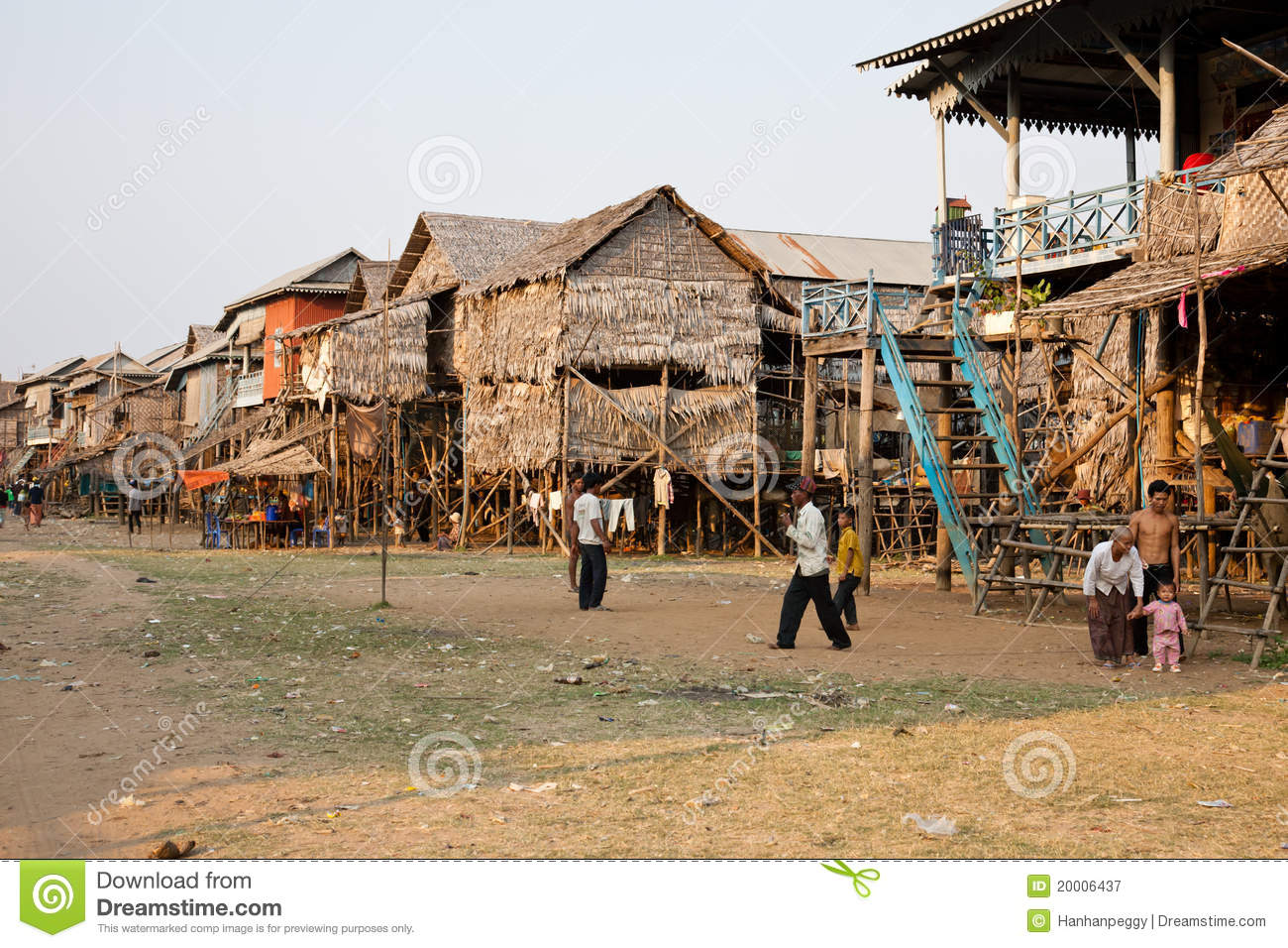 Cambodian Village Editorial Photography Image 20006437