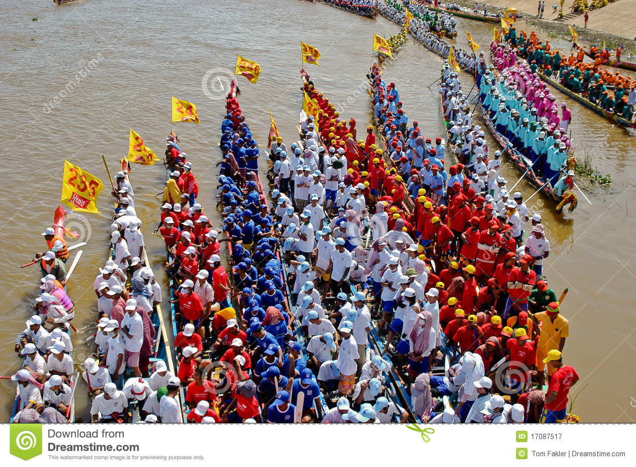 Cambodian Water Boat Race Editorial Photography Image