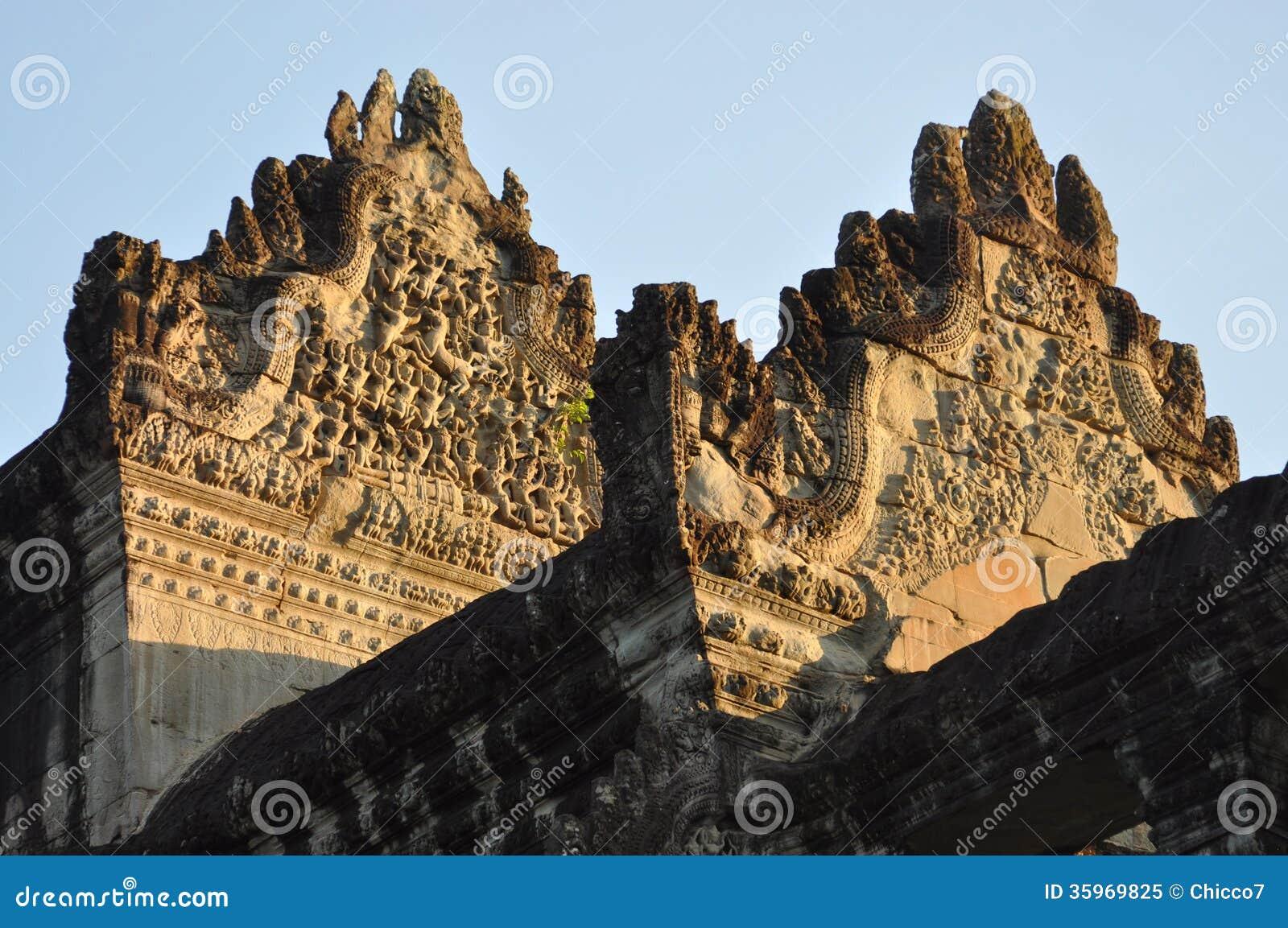 Camboya - opinión del primer del templo de Angkor Wat