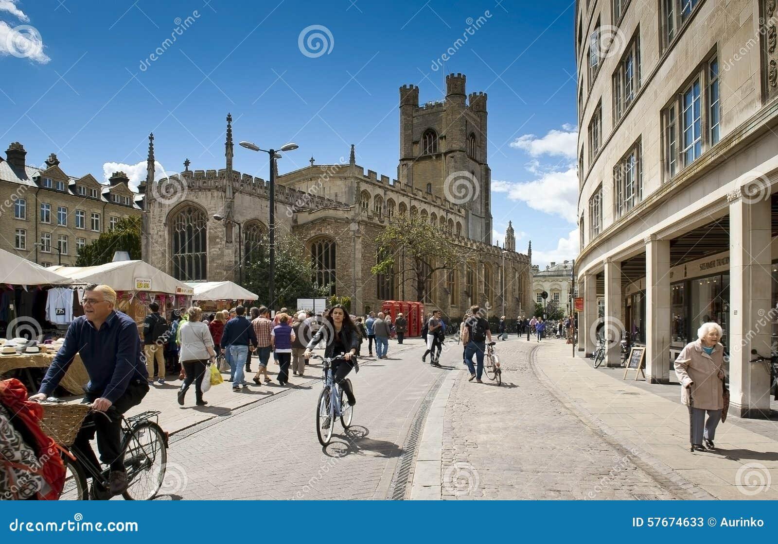 Download Cambridge zdjęcie stock editorial. Obraz złożonej z bicykl - 57674633