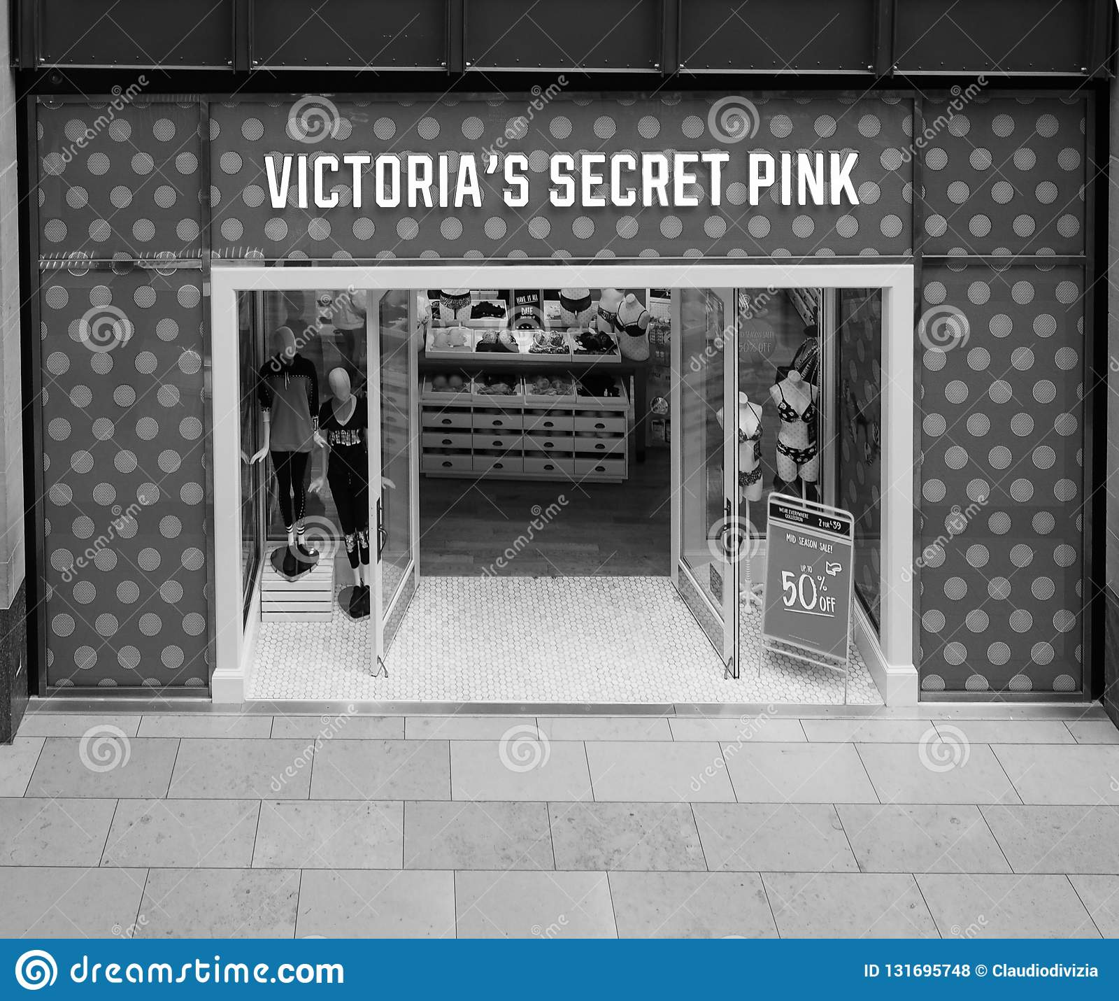 Victoria`s Secret Pink Shop At Grand Arcade Shopping Centre