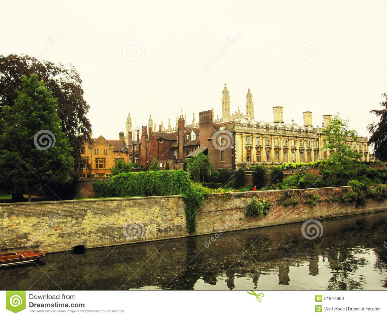 Cambridge University And The River Cam Stock Photo - Image of league ...