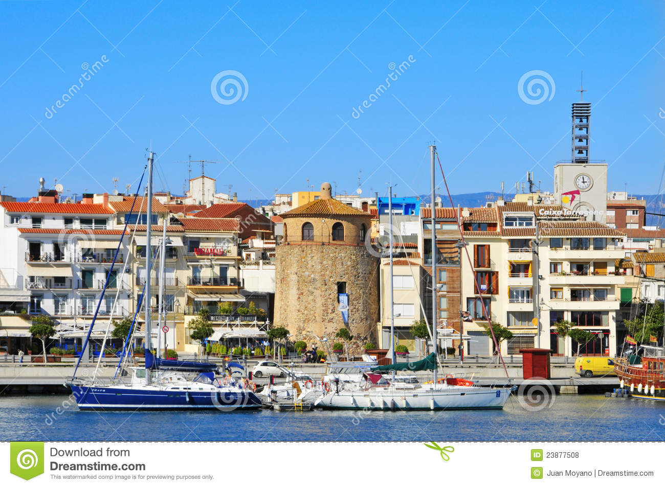 CAMBRILS, SPAIN - FEBRUARY 25: Panoramic view of Cambrils (Spain ...