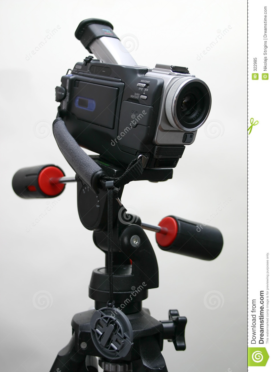 Camcorder on the tripod
