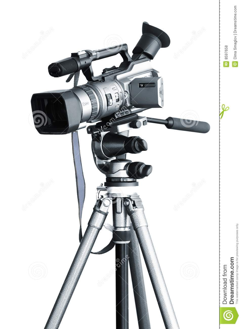 Camcorder on a tripod