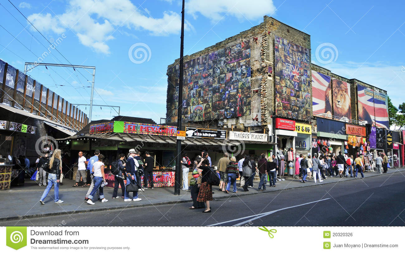 London United Kingdom  city photos gallery : LONDON, UNITED KINGDOM MAY 8: Shops in Camden Street on May 8, 2011 ...