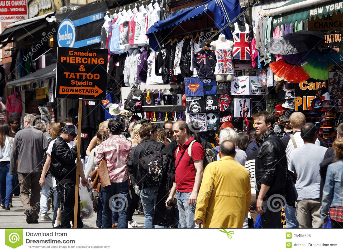 : The view of Camden Market, in Camden Town, also called Camden Lock ...
