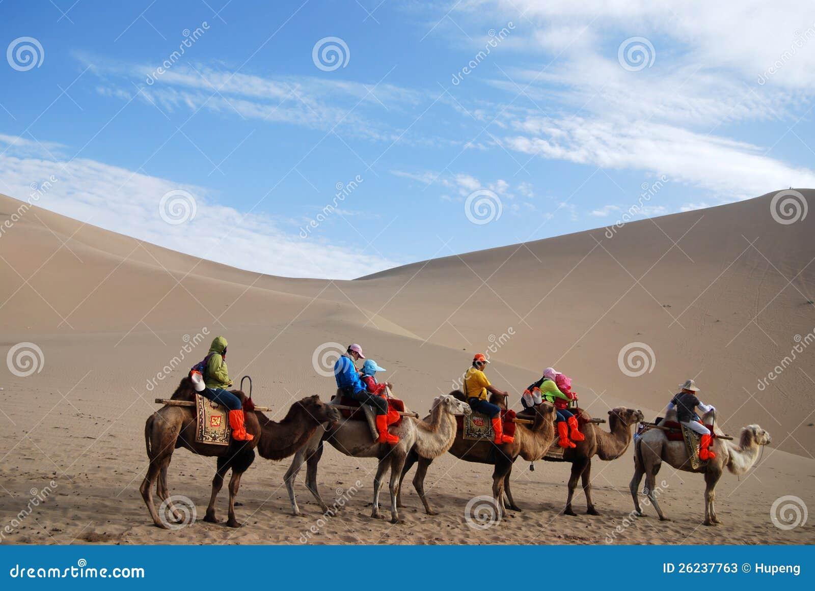 Camel Caravan In The Desert Editorial Stock Photo - Image ...