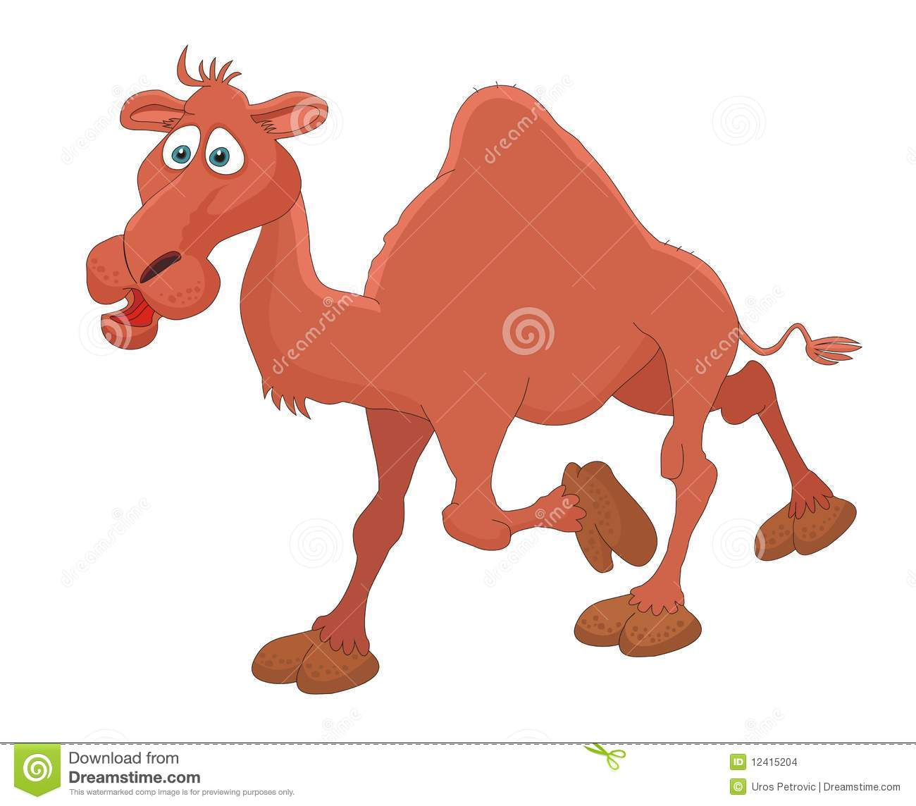 camel cartoon vector illustration stock images image 12415204