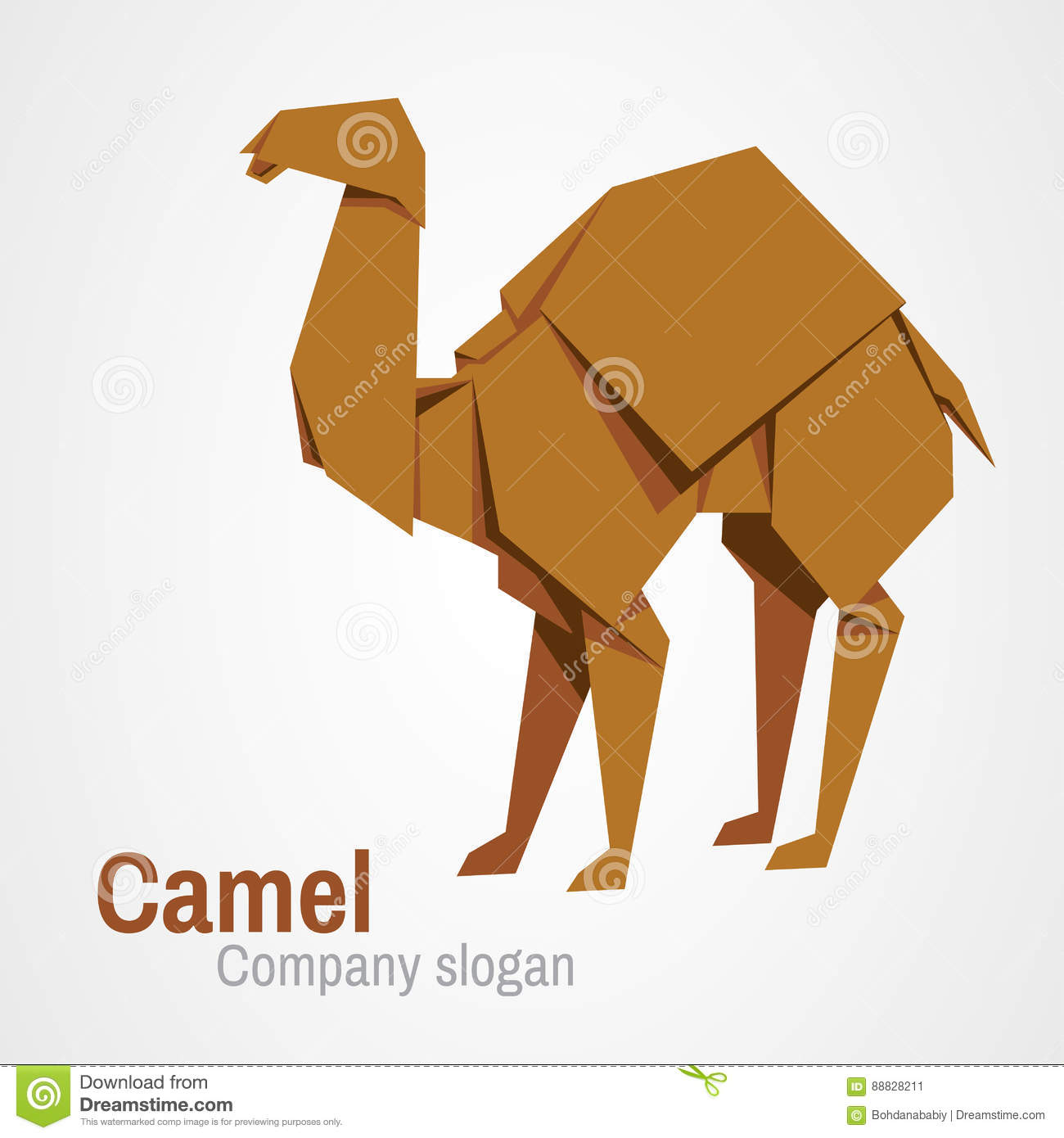 Camel logo origami stock vector. Image of artwork ... - photo#10