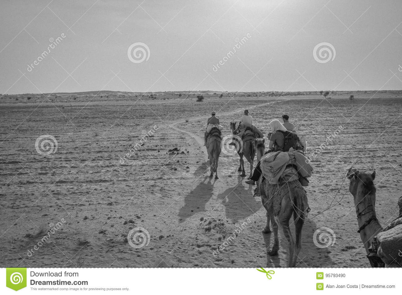 Camel Ride in the desert of Rajasthan, India