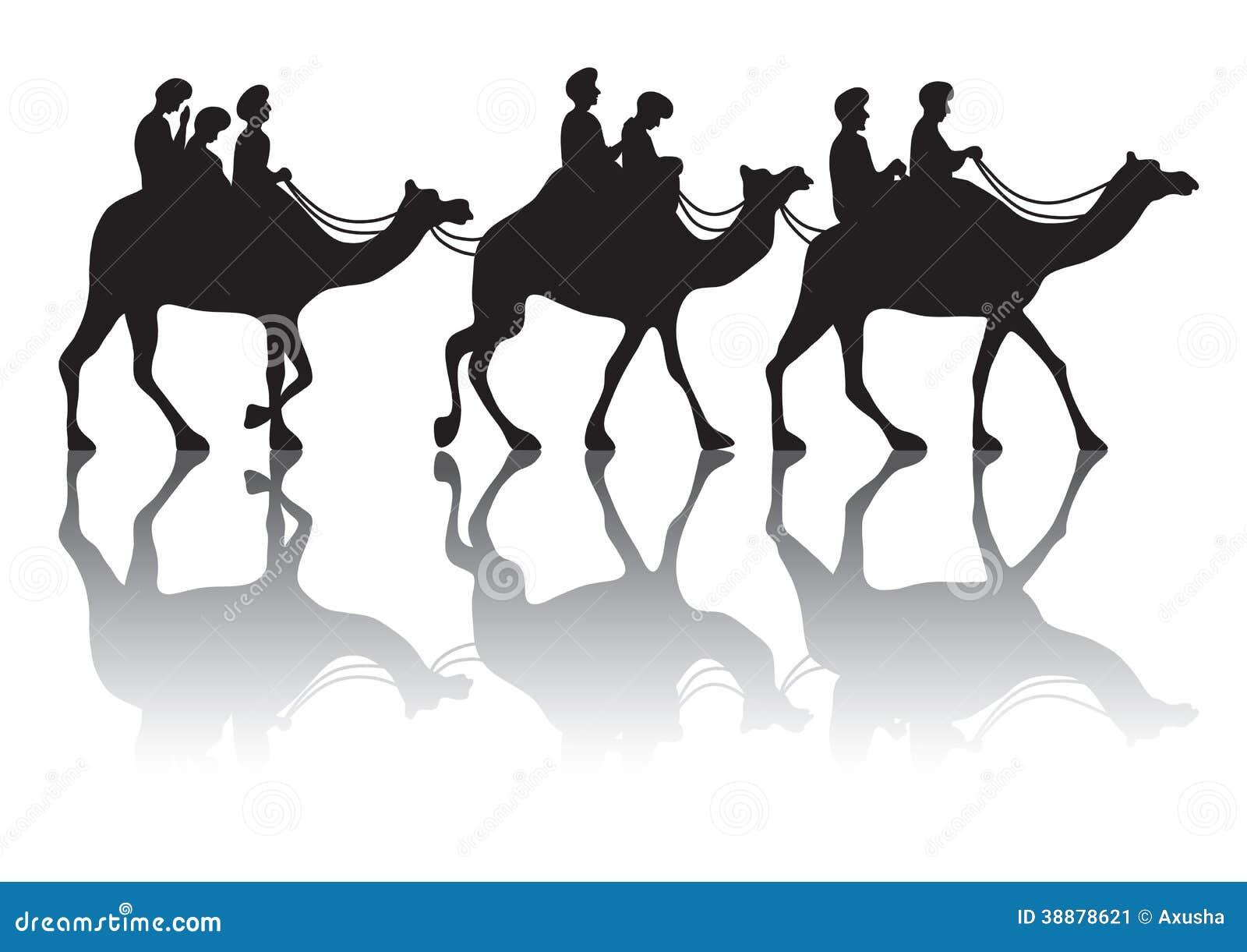 camel s caravan stock vector image 38878621
