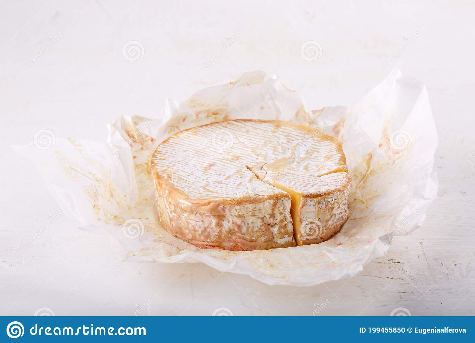Camembert Cheese On White Soft French Cow S Milk Cheese From Normandy Stock Photo Image Of Meal Nutrition 199455850