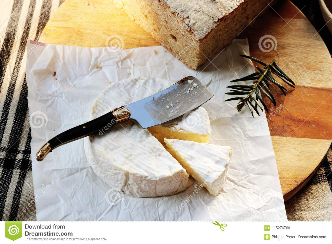 Camembert French Cheese Normandy France Stock Image Image Of Organic Flavor 115276769