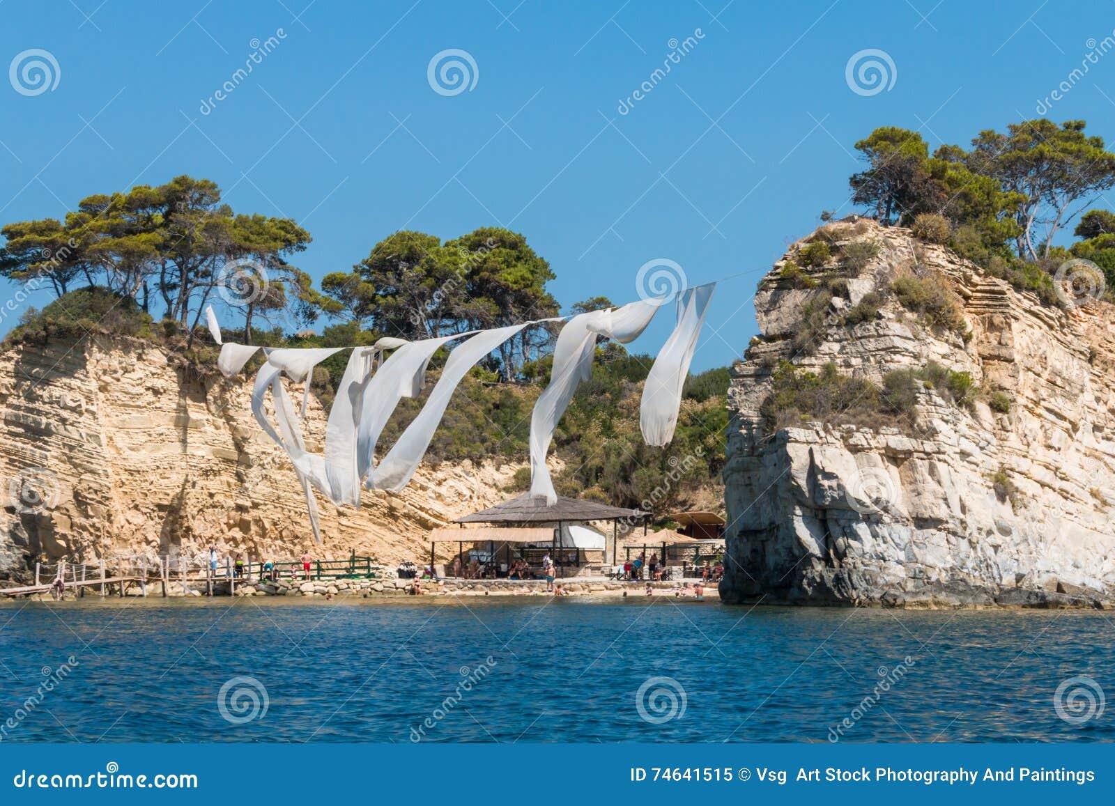 Cameo Agios Sostis Kleine Insel In Zakynthos Griechenland