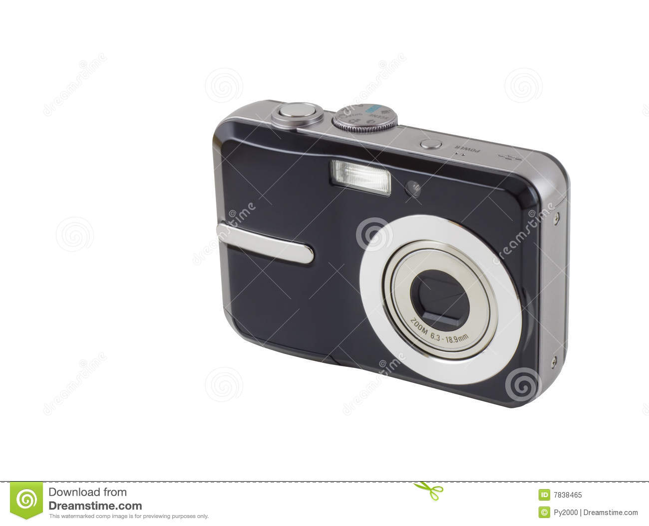 Download Digital Compact Camera stock image. Image of gadget, buttons - 7838465