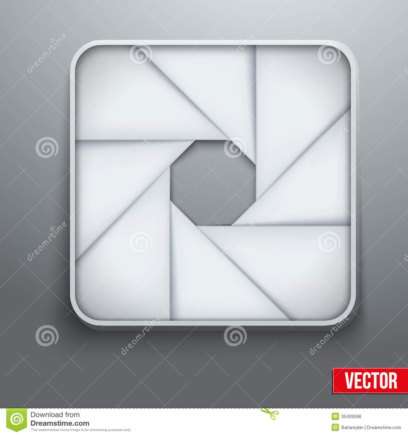 Camera aperture objective icon photography symbol