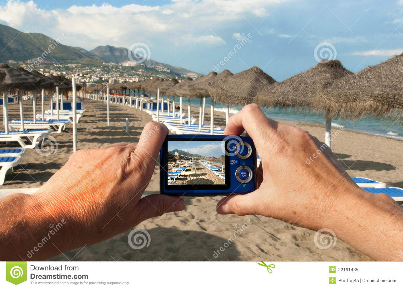 Camera On Beach Royalty Free Stock Photo - Image: 22161435