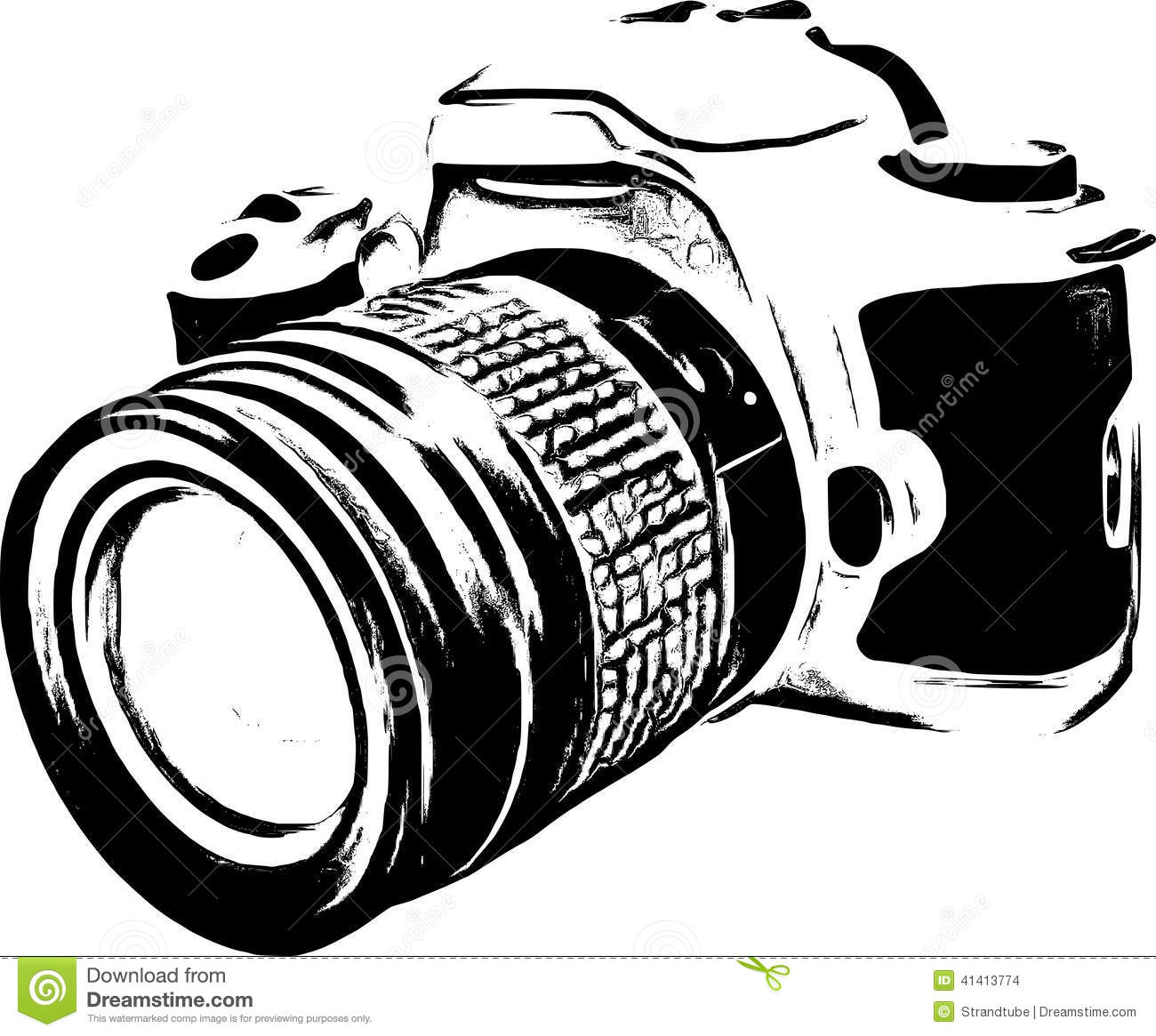 Stock Images: Line Art Camera Silhouette /Eps. Image: 41413774