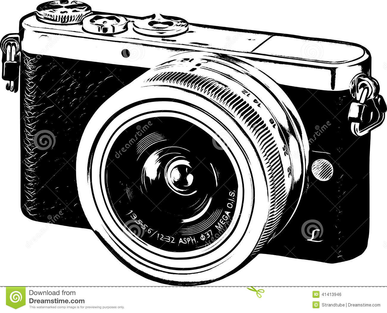 Line Drawing Camera : Line art camera silhouette eps stock vector image