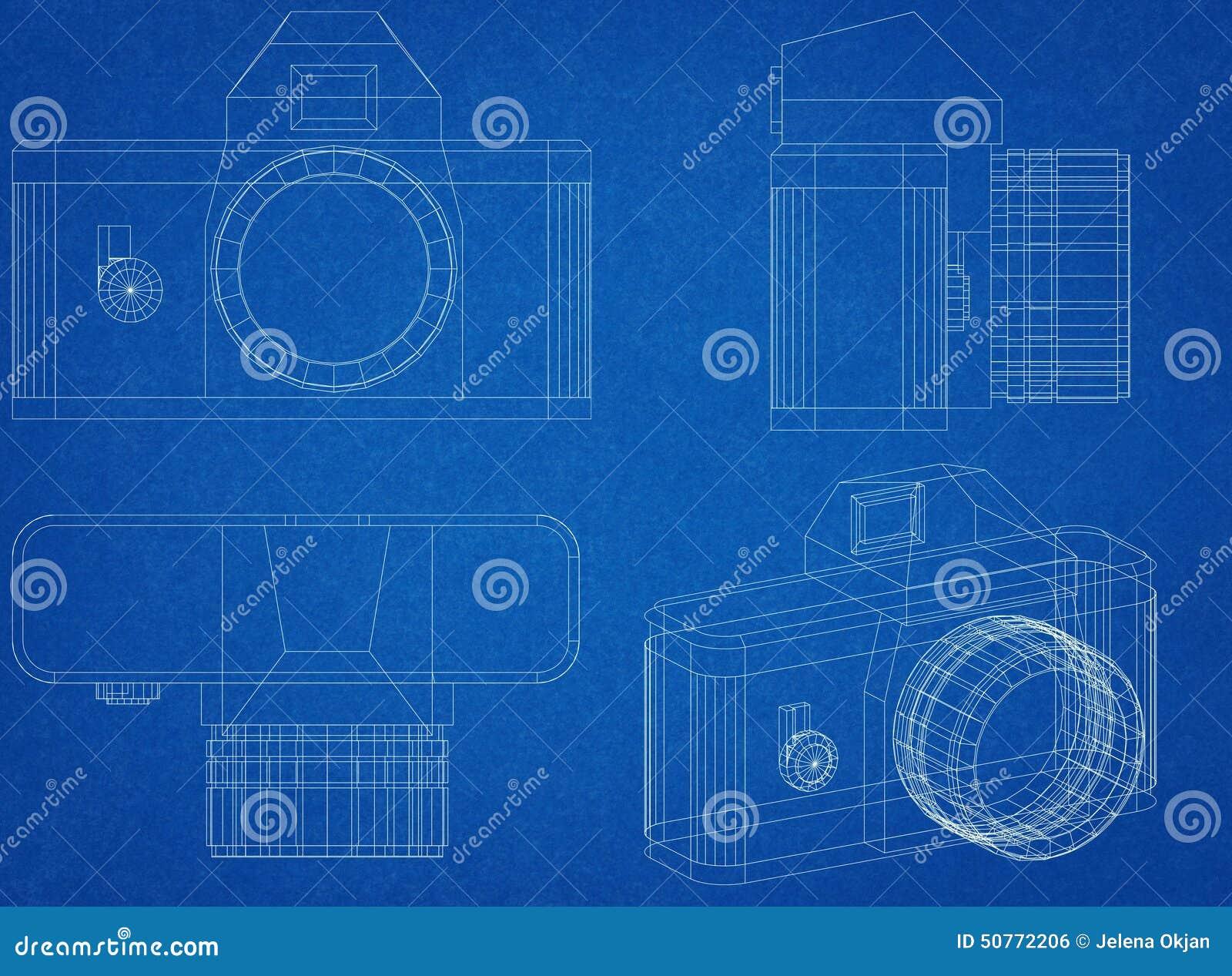 Camera blueprint stock illustration illustration of computer 50772206 camera blueprint malvernweather Choice Image