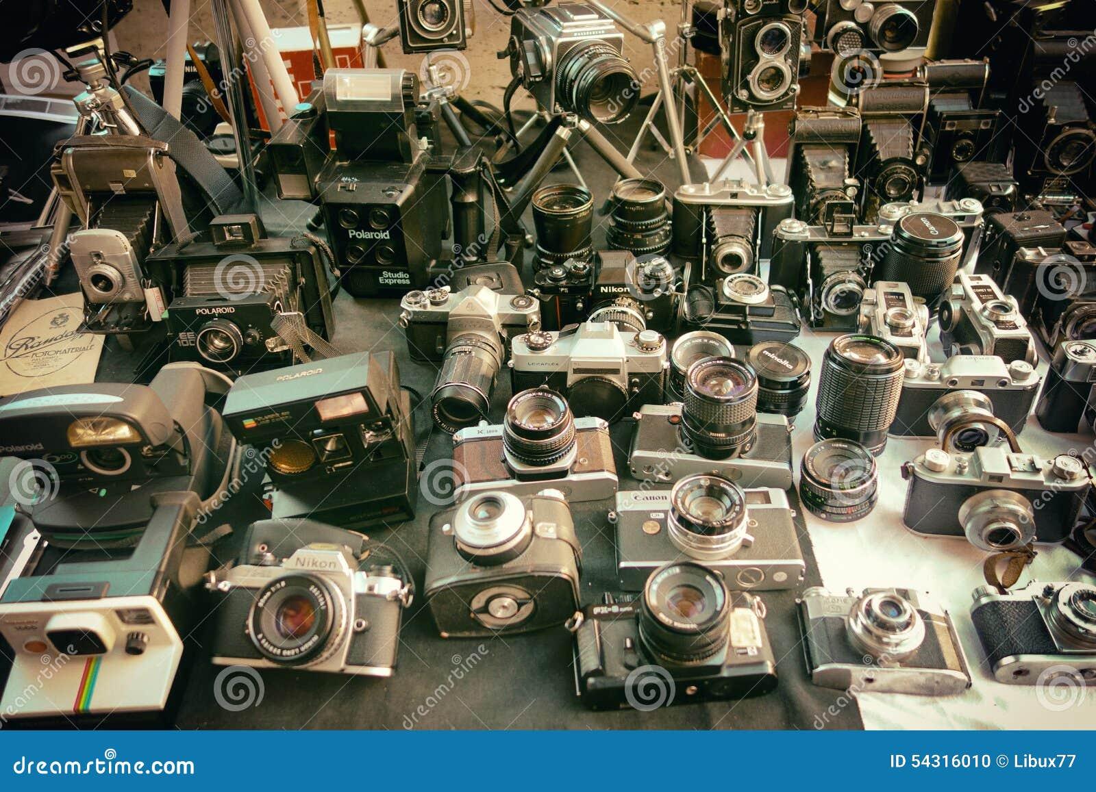 f059009597f5 Camera Cameras Vintage Collection Editorial Image - Image of nikon ...