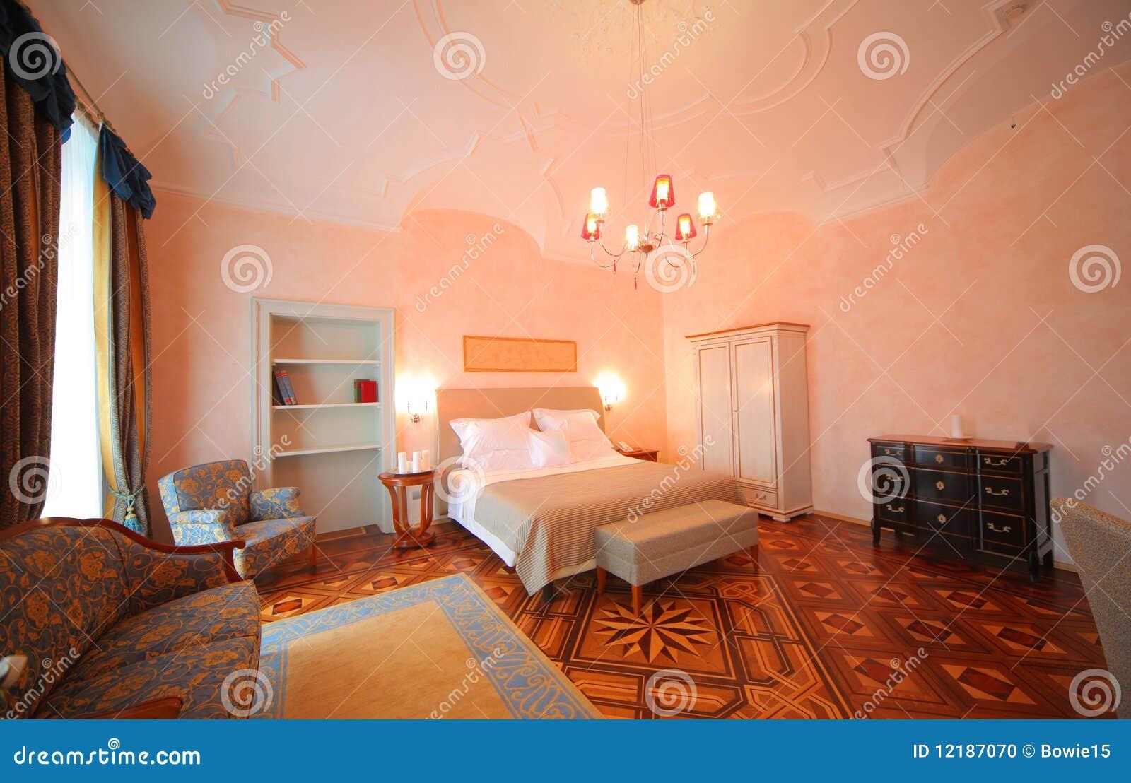 Camera da letto fotografia stock immagine 12187070 for 3 disegni della camera da letto della base