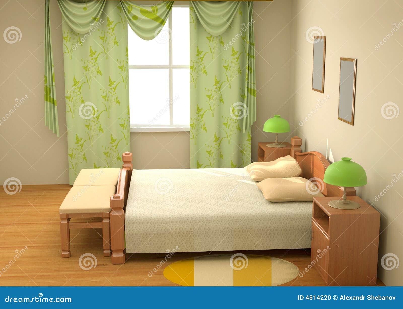 Camera da letto 3d interno fotografia stock immagine for Camera letto 3d