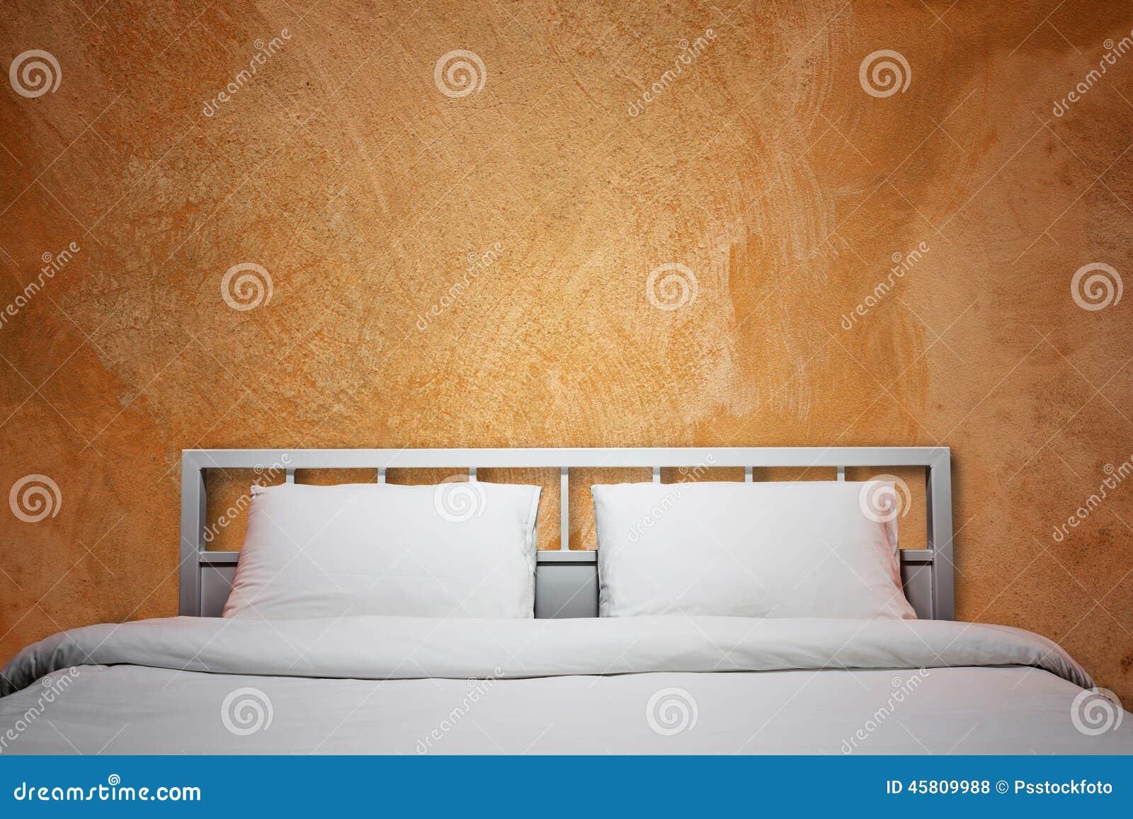 Camera da letto arancione fotografia stock. Immagine di base ...