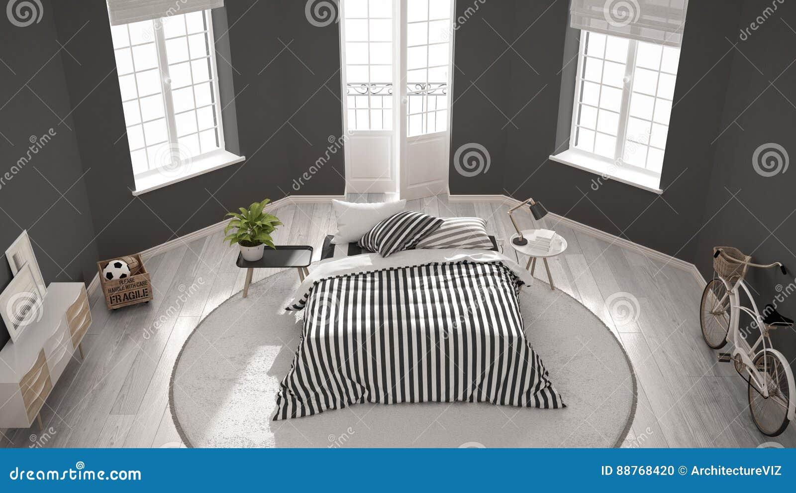 Camere Da Letto Nordiche : Camera da letto bianca moderna minimalista interior design nordico