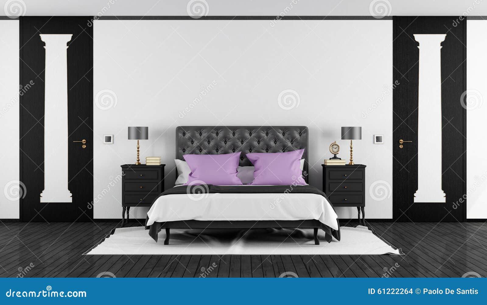 Camera Da Letto Bianca E Nera camera da letto classica in bianco e nero illustrazione di