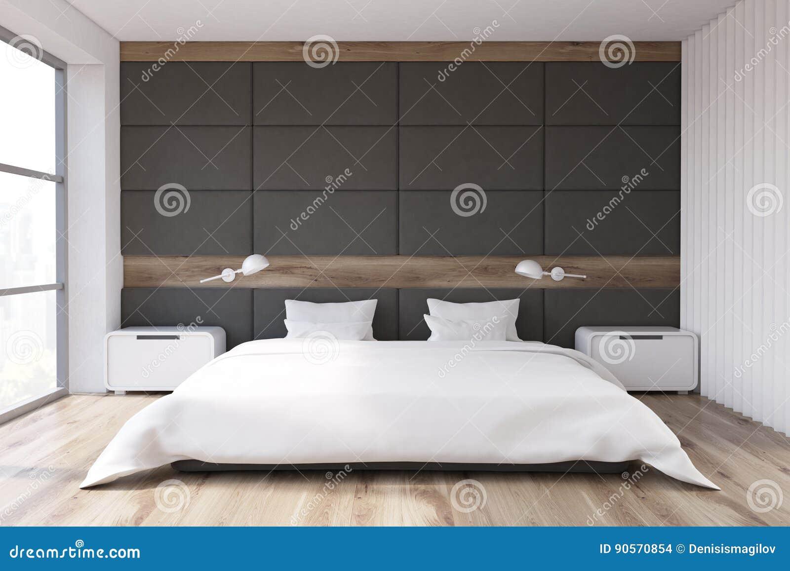 Parete Camera Da Letto Grigia : Camera da letto con la parete grigia illustrazione di