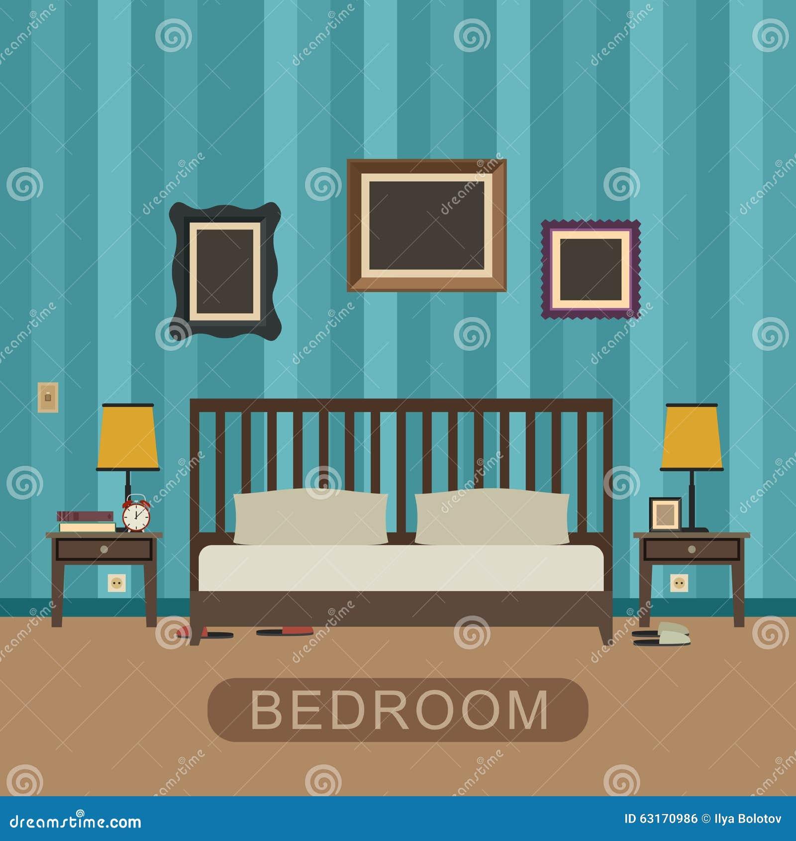 Camera da letto con mobilia illustrazione vettoriale for Mobilia download