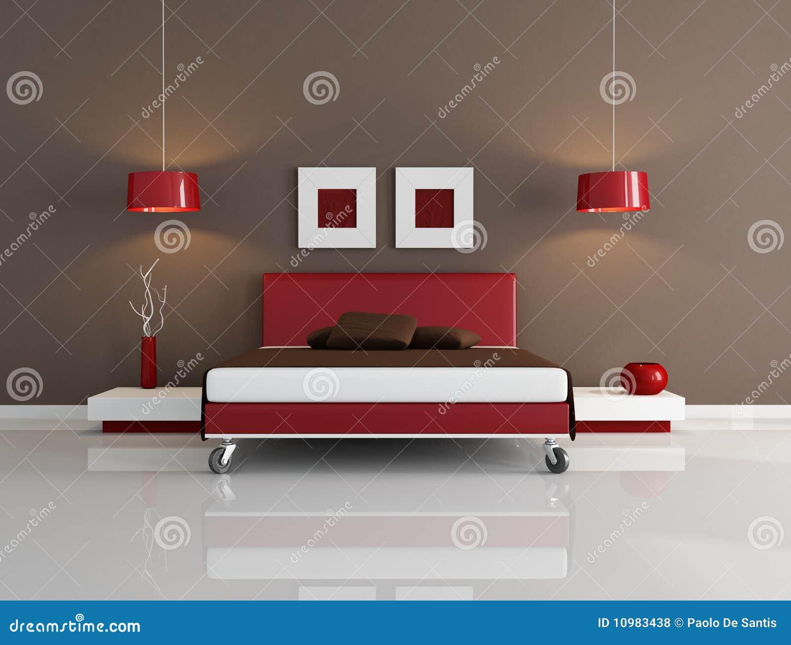 Camera da letto contemporanea illustrazione di stock - Camera da letto contemporanea economica ...