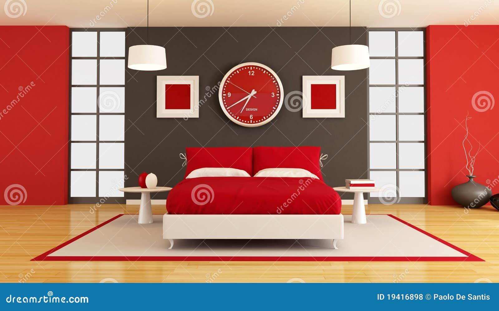Camera da letto contemporanea fotografie stock libere da - Camera da letto contemporanea bianca ...
