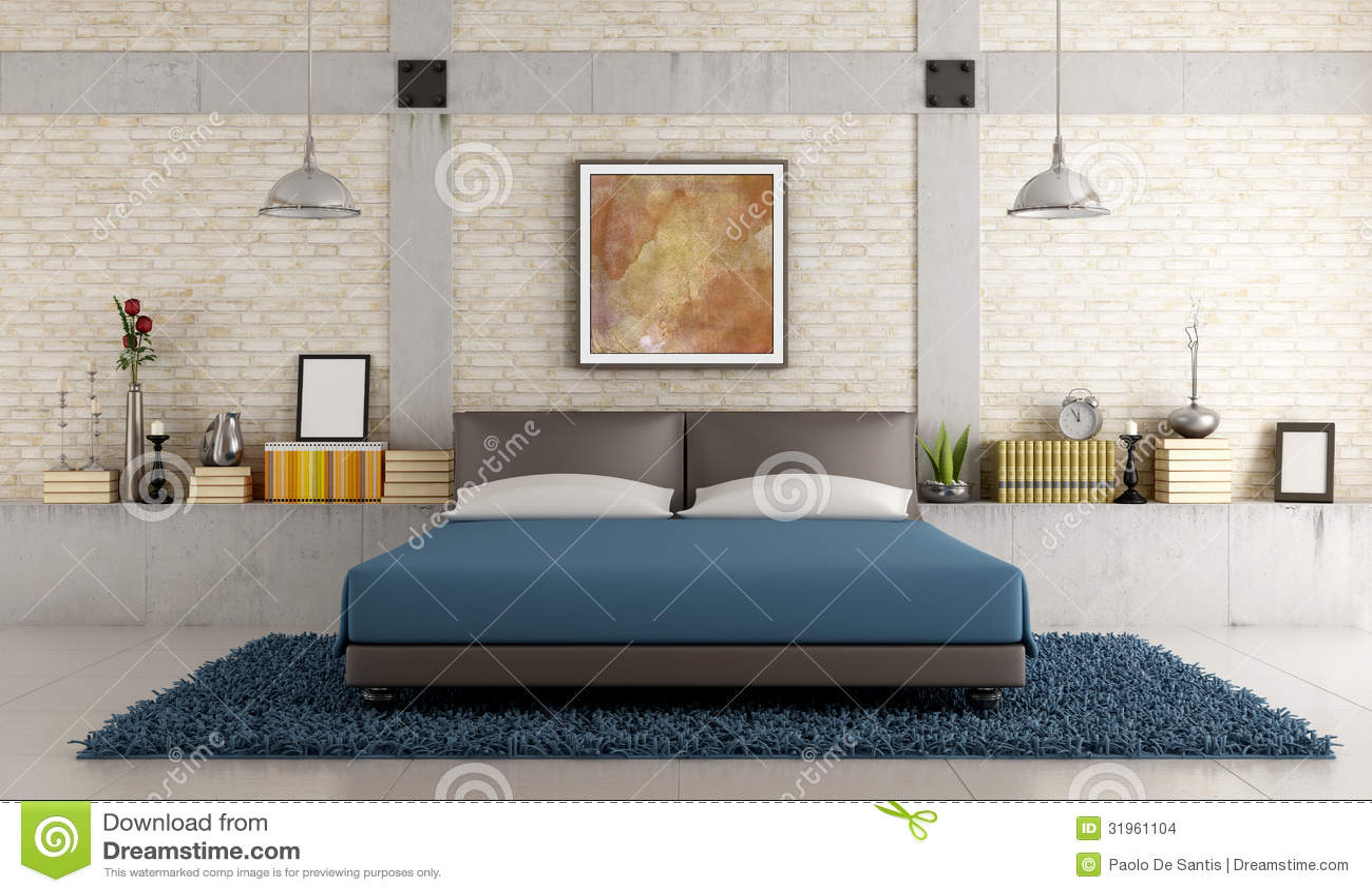 Camera da letto contemporanea in un sottotetto immagini - Stanza da letto contemporanea ...