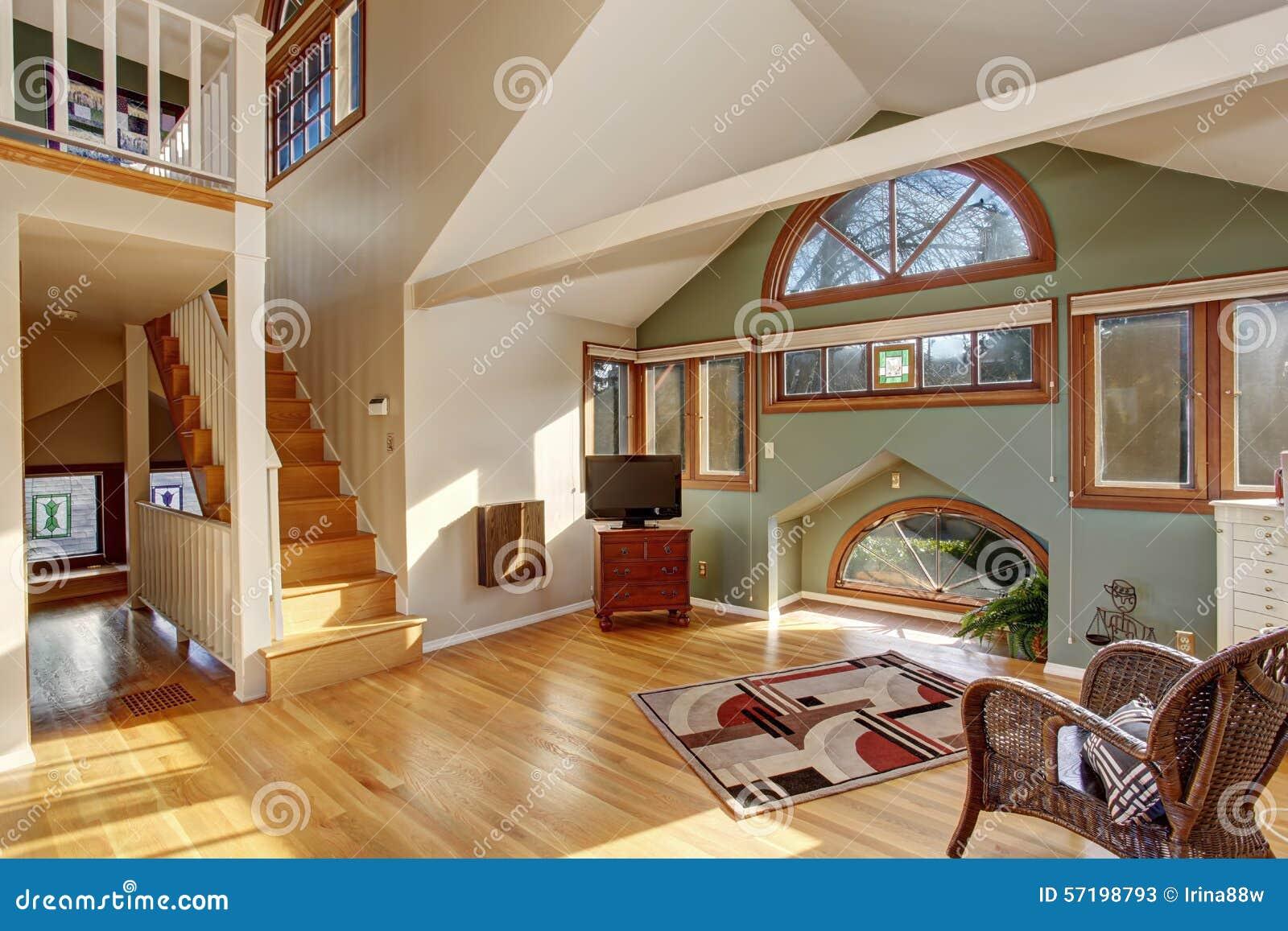 Camera da letto d 39 annata di stile del sottotetto con il - Camera da letto con tv ...