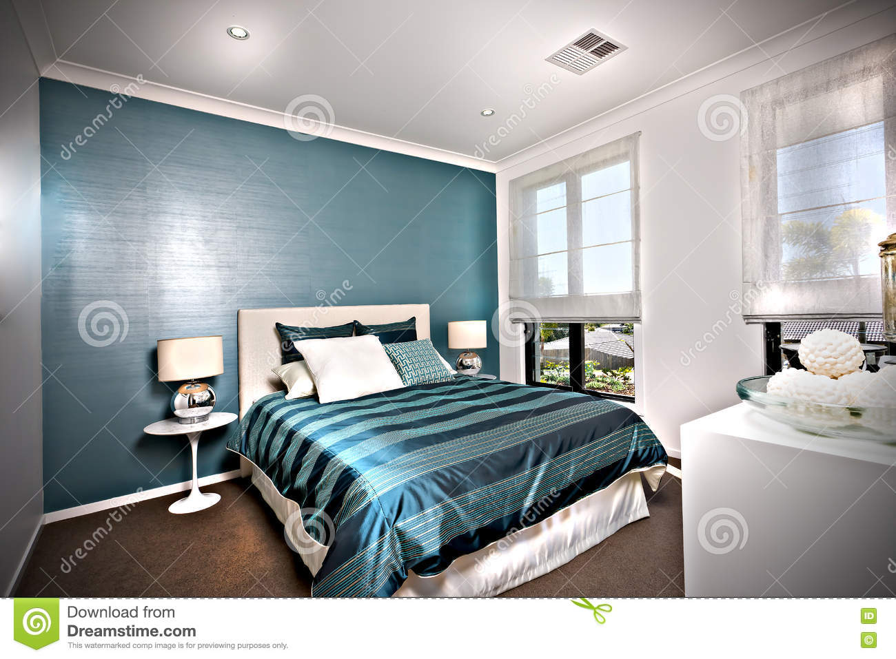 Awesome Parete Camera Da Letto Blu Photos - Design and Ideas ...